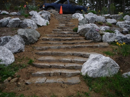 STEPS FOR ROCK GARDEN